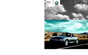 2005 bmw z4 roadster 3 0i owner s manual pdf 53 pages