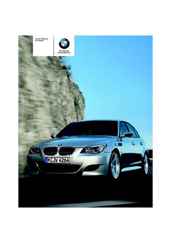 2006 bmw m5 owner s manual pdf 231 pages rh carmanuals2 com 2006 BMW 750Li Review 2000 M5