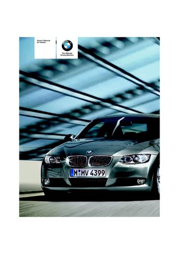 2007 bmw 328i coupe owner s manual pdf 272 pages rh carmanuals2 com 2007 335Xi Specs Drain Plug 2007 BMW 335Xi