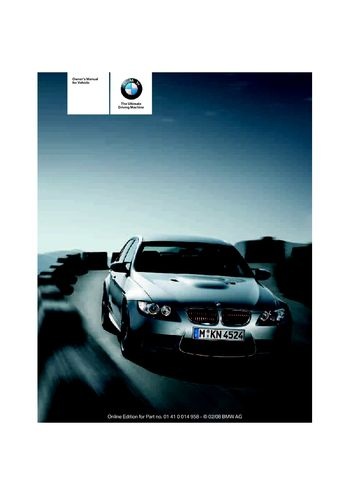 2008 bmw m3 owner s manual pdf 266 pages rh carmanuals2 com bmw m3 owner manual 2011 m-dct convertible bmw m3 owners manual pdf