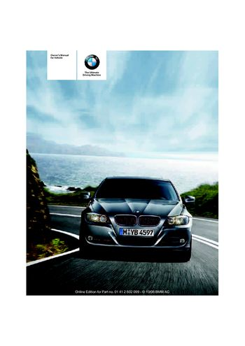2009 Bmw 335i Xdrive Owner S Manual Pdf 268 Pages