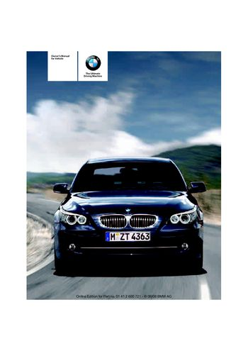 2009 Bmw 535i Owner S Manual Pdf 294 Pages