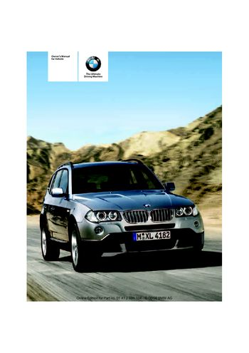 2009 bmw x3 xdrive30i owner s manual pdf 146 pages rh carmanuals2 com 2009 bmw x3 owner's manual 2013 BMW X3