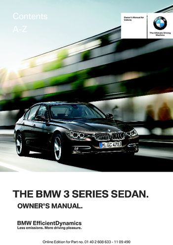 BMW I Owners Manual PDF Pages - 2012 bmw 328i manual