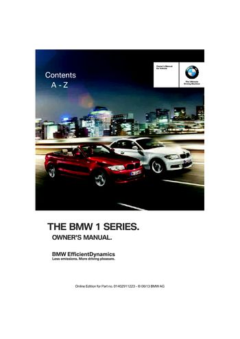 2013 bmw 128i convertible owner s manual pdf 284 pages rh carmanuals2 com bmw 1 series owner manual pdf BMW 3 Series Convertible