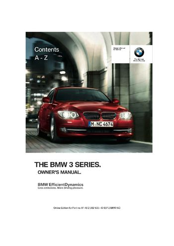 2013 bmw 328i coupe owner s manual pdf 308 pages rh carmanuals2 com 2015 bmw 3 series owners manual 2015 bmw 3 series owners manual