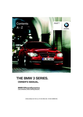 2013 bmw 328i xdrive coupe owner s manual pdf 308 pages rh carmanuals2 com 2013 BMW xDrive 328I HP 2013 BMW 328I xDrive M Sport