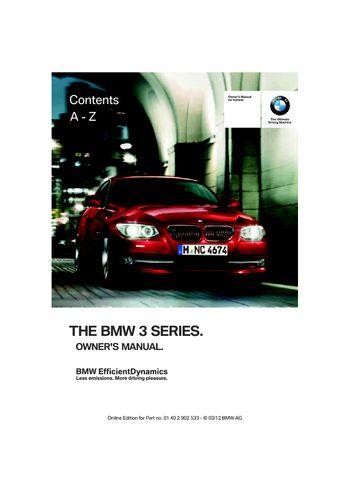 bmw 335i owners manual pdf