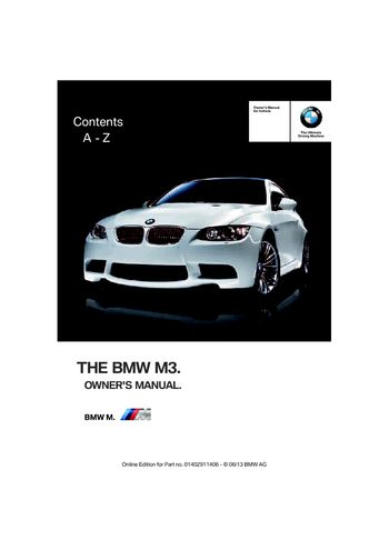 2010 bmw m3 convertible owners manual