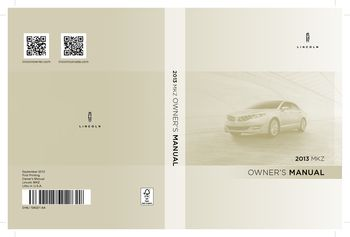 2013 lincoln mkz owner s manual pdf 474 pages rh carmanuals2 com 2013 lincoln mkx owners manual pdf 2014 lincoln mkz owners manual pdf