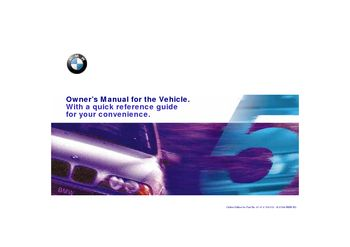 2000 bmw 528i - owner's manual - pdf (217 pages)
