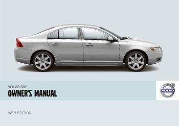 2008 volvo s80 owner s manual pdf 244 pages rh carmanuals2 com 2006 Volvo S80 2008 Volvo S80