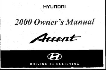 2000 hyundai accent owner s manual pdf 135 pages rh carmanuals2 com manual hyundai accent 2000 hyundai accent 2000 manual free download
