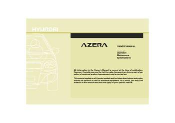 2009 hyundai azera owner s manual pdf 335 pages rh carmanuals2 com