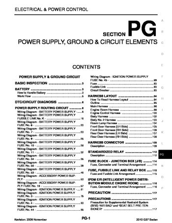 2010 infiniti g37 power supply, ground \u0026 circuit elements (section Infiniti G37 Headlight 2010 infiniti g37 power supply, ground \u0026 circuit elements (section pg) (122 pages)