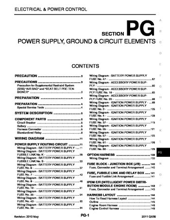 [DIAGRAM_4PO]  2011 Infiniti QX56 - Power Supply, Ground & Circuit Elements (Section PG) -  PDF Manual (166 Pages) | Infiniti Qx56 Fuse Diagram |  | Car Manuals