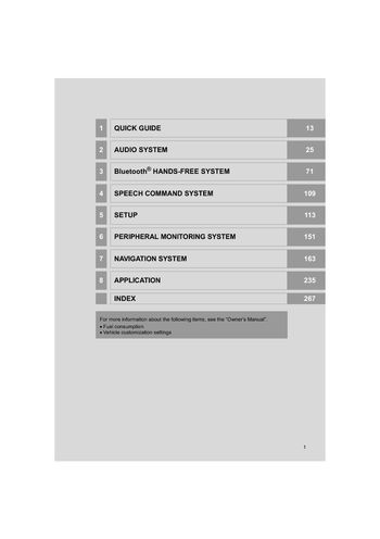 2015 toyota avensis navigation manual pdf 277 pages rh carmanuals2 com toyota navigation manual 2014 toyota navigation manual download