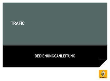 renault trafic bedienungsanleitung