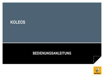 2012 renault koleos betriebsanleitung in german pdf handbuch 233 pages. Black Bedroom Furniture Sets. Home Design Ideas