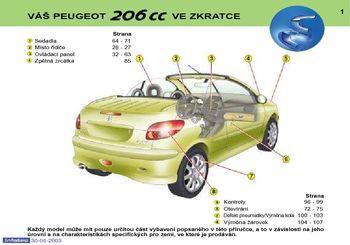 Ke Stažen 237 2003 Peugeot 206 Cc N 225 Vod K Obsluze In Czech