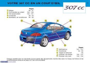 2003 peugeot 307 cc manuel du propri taire in french pdf rh carmanuals2 com manual peugeot 307 cc 2007 manual peugeot 307 cc español