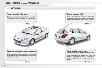 2010 peugeot 407 manual do propriet rio in portuguese pdf 249 rh carmanuals2 com Peugeot 407 SW Peugeot 407 SW