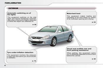 2009 peugeot 607 dag owner s manual pdf 182 pages rh carmanuals2 com peugeot 607 user manual Peugeot 807