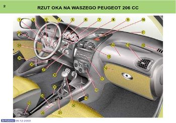 2003 5 peugeot 206 cc instrukcja obs ugi in polish. Black Bedroom Furniture Sets. Home Design Ideas