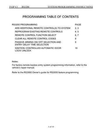 toyota corolla remote programming instructions