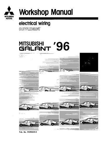 1996 mitsubishi galant electrical wiring pdf manual 115 pages rh carmanuals2 com mitsubishi galant 1996 workshop manual 1999 Mitsubishi Galant