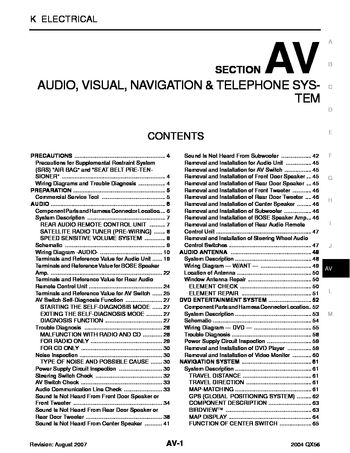 2004 infiniti qx56 audio visual system section av pdf manual rh carmanuals2 com Infinity Mr158403 Wiring-Diagram Infiniti G35 Radio Wiring Diagram