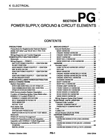 i2 2005 infiniti qx56 power supply, ground & circuit elements 2006 infiniti qx56 wiring diagrams at reclaimingppi.co