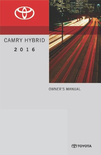 toyota camry hybrid owners manual   pages