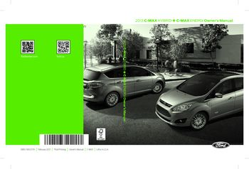 ford  max hybridenergi owners manual