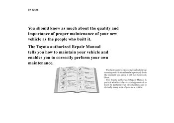 2008 Toyota 4Runner - Repair Manual Information - PDF (2 Pages)