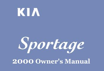 2000 kia sportage owner s manual pdf 292 pages rh carmanuals2 com kia sportage owners manual 2005 2005 kia sportage user manual