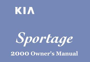 2000 kia sportage owner s manual pdf 292 pages rh carmanuals2 com 2000 kia sportage 4x4 owners manual 2000 kia sportage service manual