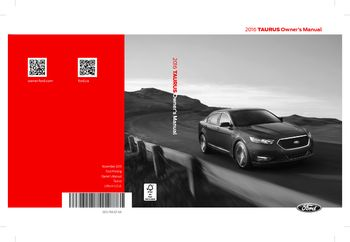 ford taurus owners manual   pages