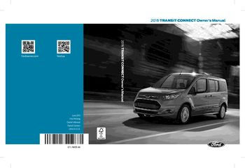 Ford Transit Connect Owners Manual  Pages