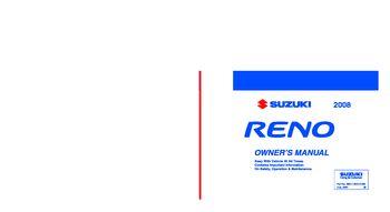 2008 suzuki reno owner s manual pdf 226 pages rh carmanuals2 com Suzuki Forenza White 07 Suzuki Forenza Repair Manual