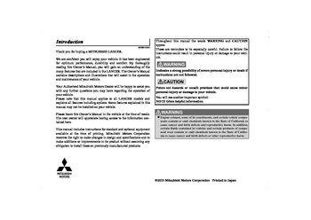 2014 mitsubishi lancer ralliart owner s manual pdf 434 pages rh carmanuals2 com lancer ralliart service manual 2009 lancer ralliart owners manual