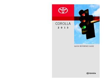 2013 toyota corolla quick reference guide pdf manual 28 pages rh carmanuals2 com toyota prius quick reference guide 2016 toyota highlander quick reference guide