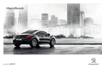 2011 peugeot rcz owner s manual pdf 276 pages rh carmanuals2 com Peugeot RCZ Black and White Peugeot RCZ Specs