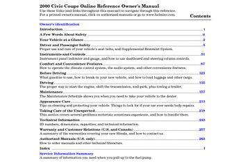 honda civic 2000 manual pdf