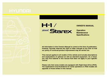2016 hyundai h 1 grand starex owner s manual pdf 417 pages rh carmanuals2 com hyundai starex manual diesel hyundai starex manual de taller