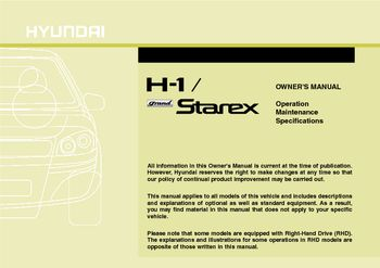 2012 hyundai h 1 grand starex owner s manual pdf 338 pages rh carmanuals2 com grand starex service manual hyundai starex user manual
