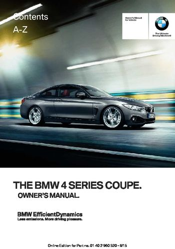 download 2016 bmw 4 series coupe owner 39 s manual pdf 247 pages. Black Bedroom Furniture Sets. Home Design Ideas