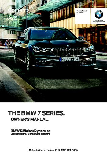 2016 bmw 7 series owner s manual pdf 314 pages rh carmanuals2 com 2013 bmw 750 owners manual 2013 bmw 750 owners manual