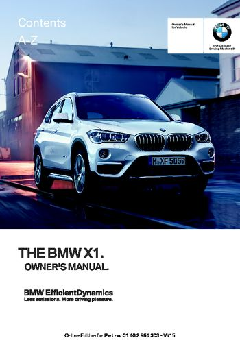 2016 bmw x1 owner s manual pdf 242 pages rh carmanuals2 com bmw user manual 3 series bmw user manual 3 series
